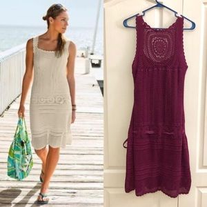 Athleta Purple Crochet Medallion Falcon Dress